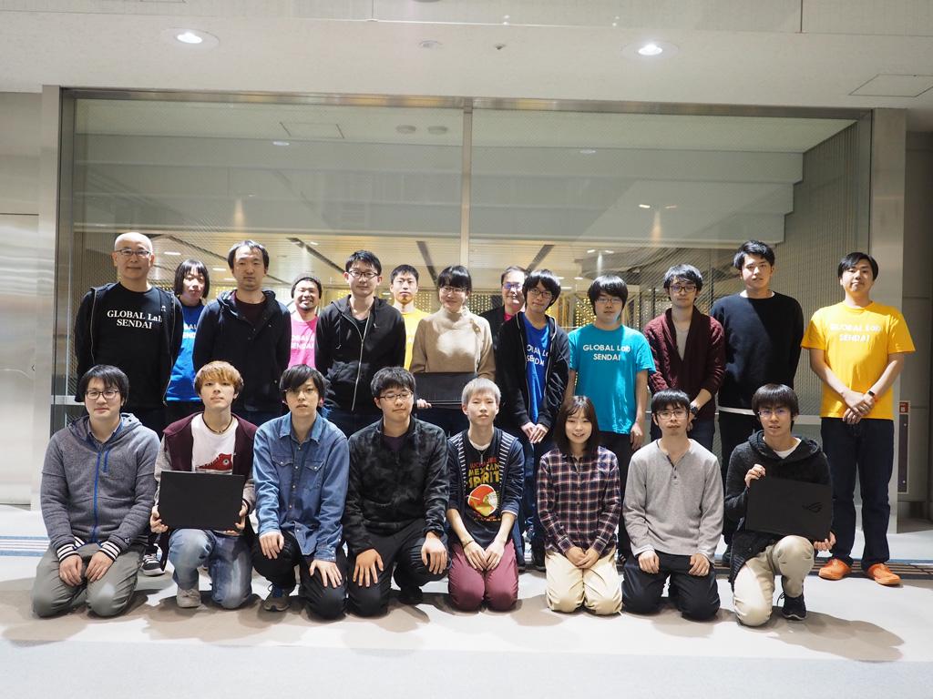 グローバルラボ仙台(GLS)主催のGame開発塾にROG Zephyrus G GA502DUを学生開発者に無償貸与