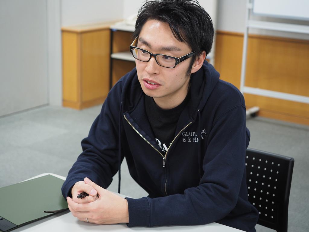 仙台市経済局の岸さん。