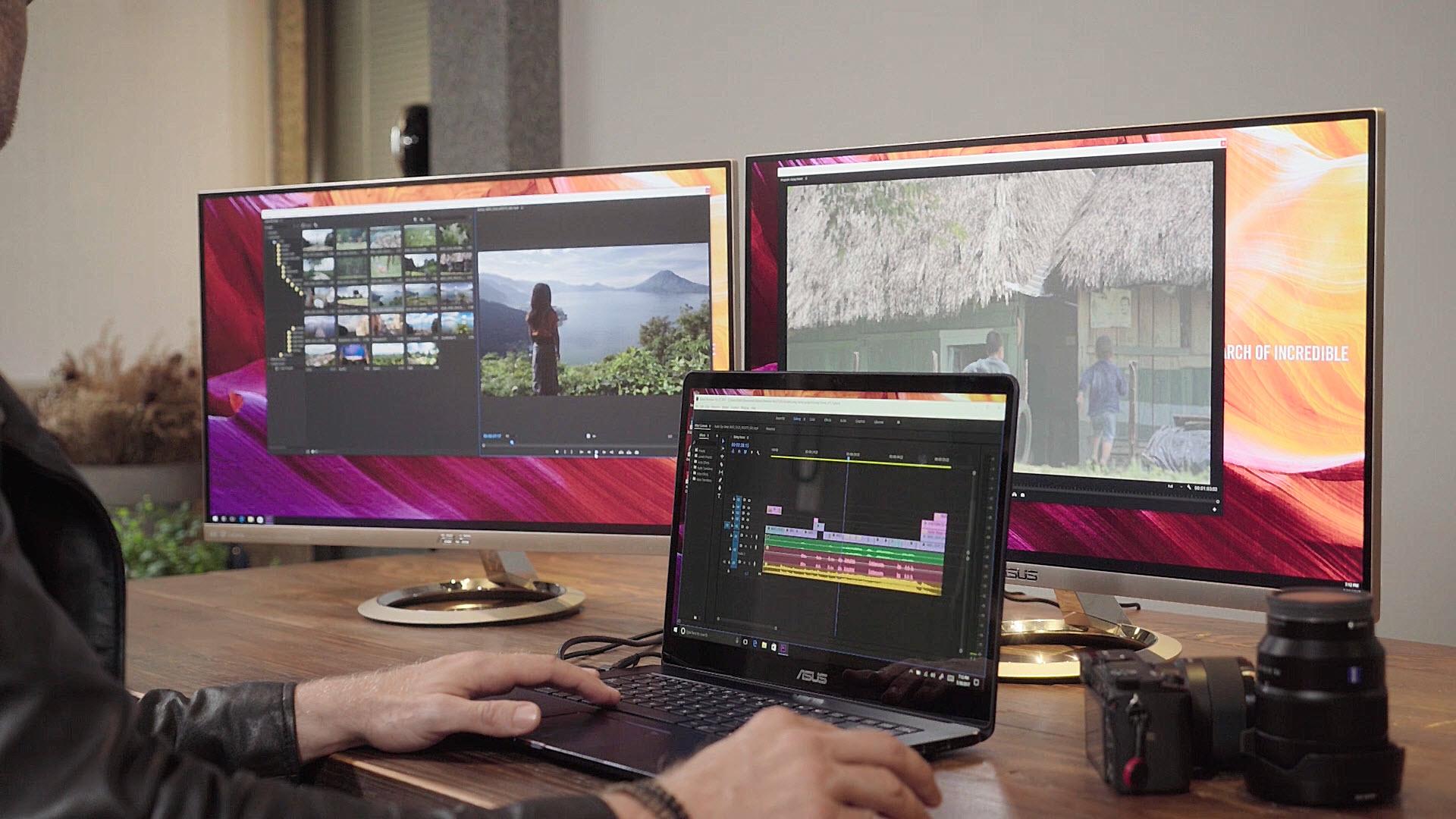 ZenBook Pro editing video