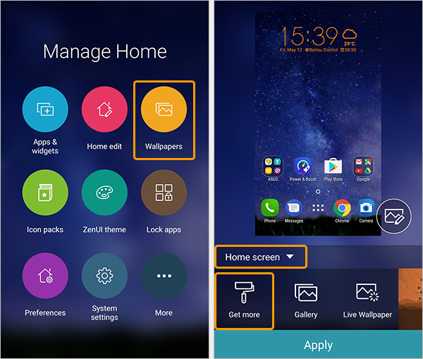 Zenui launcher how to customize your zenfone home screen for Wallpaper home launcher