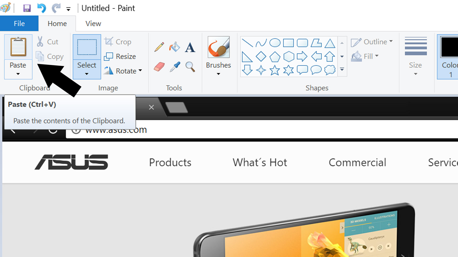 Screenshot on the ZenBook 3 Deluxe