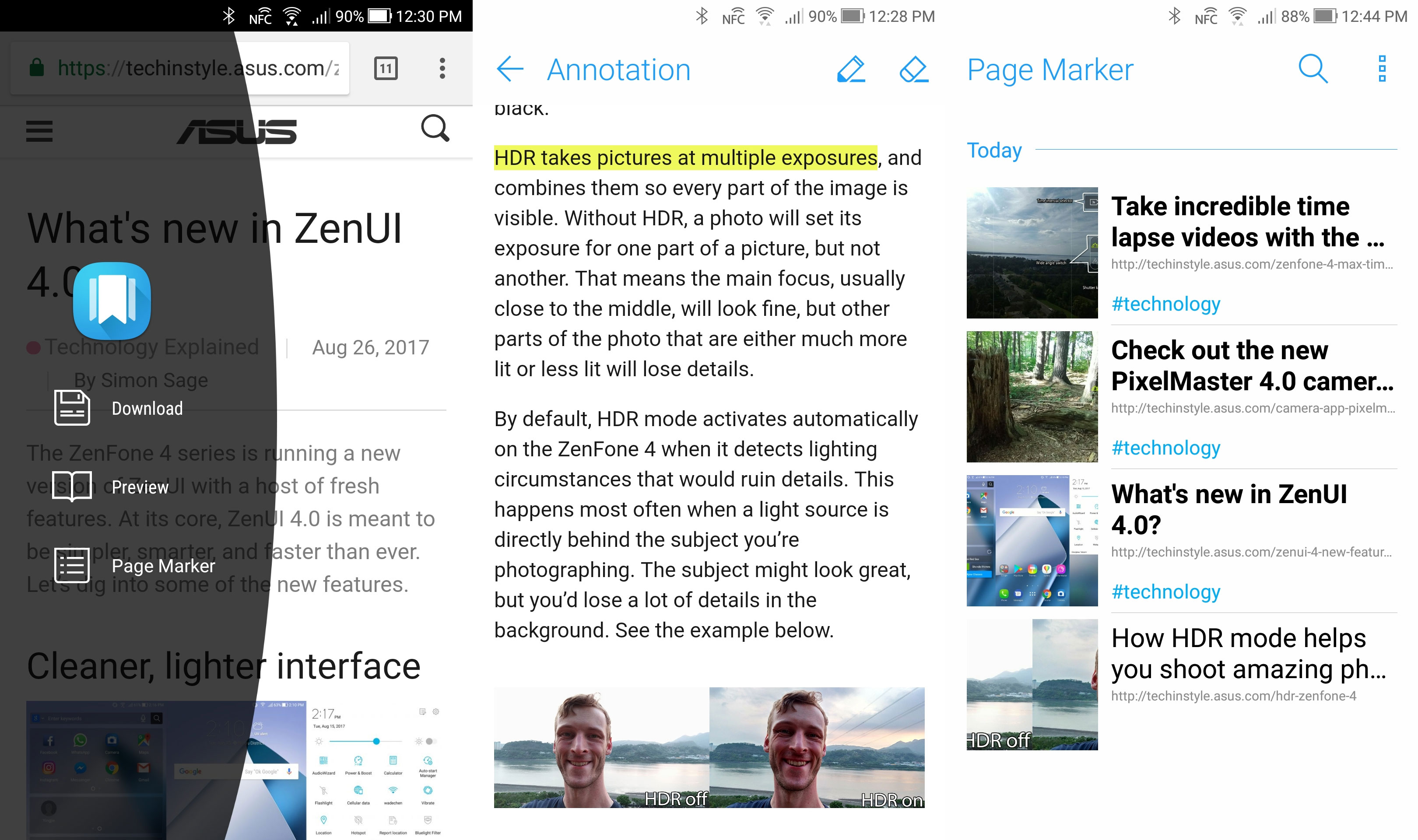 Page Marker for ZenFone 4