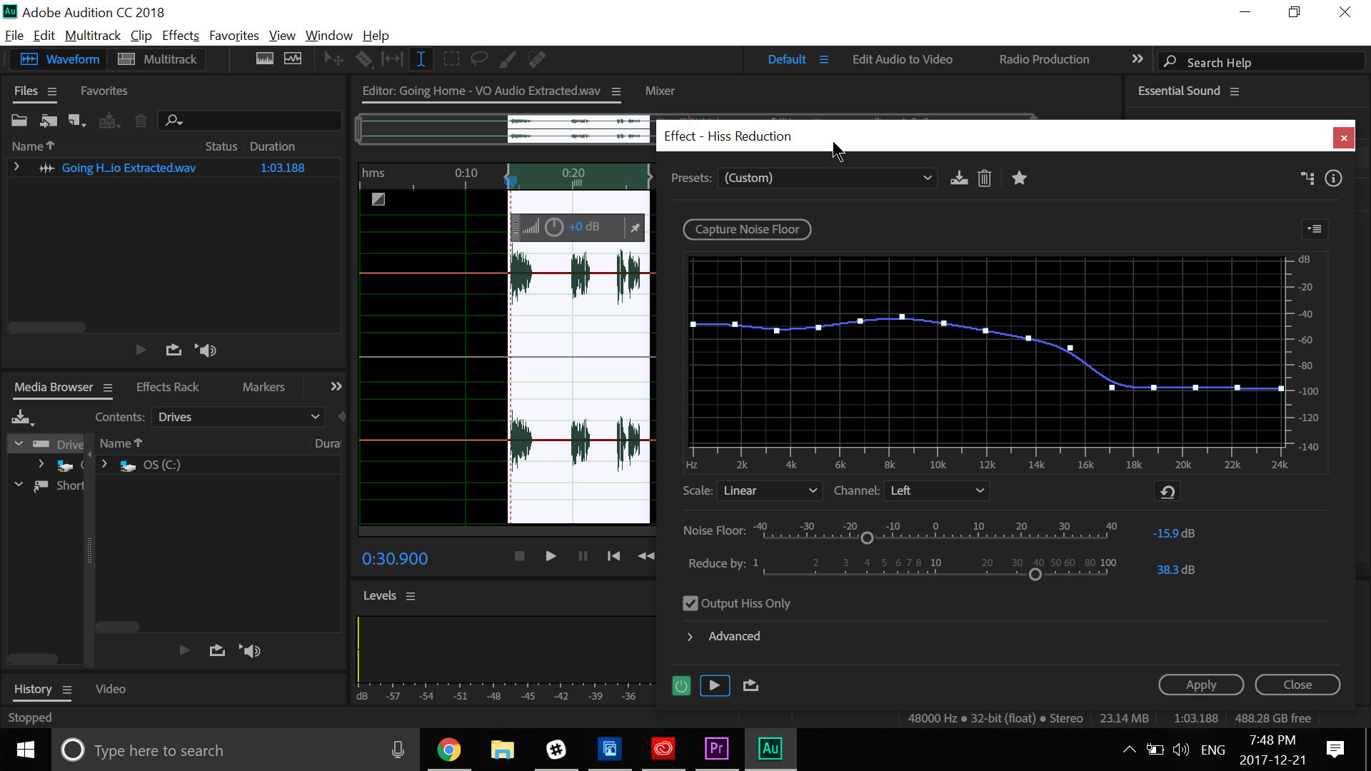 Remove Background Noise In Adobe Audition With The Zenbook