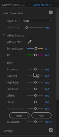 Premiere Pro basic Lumetri edits