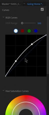 Premiere Pro Lumetri color curves