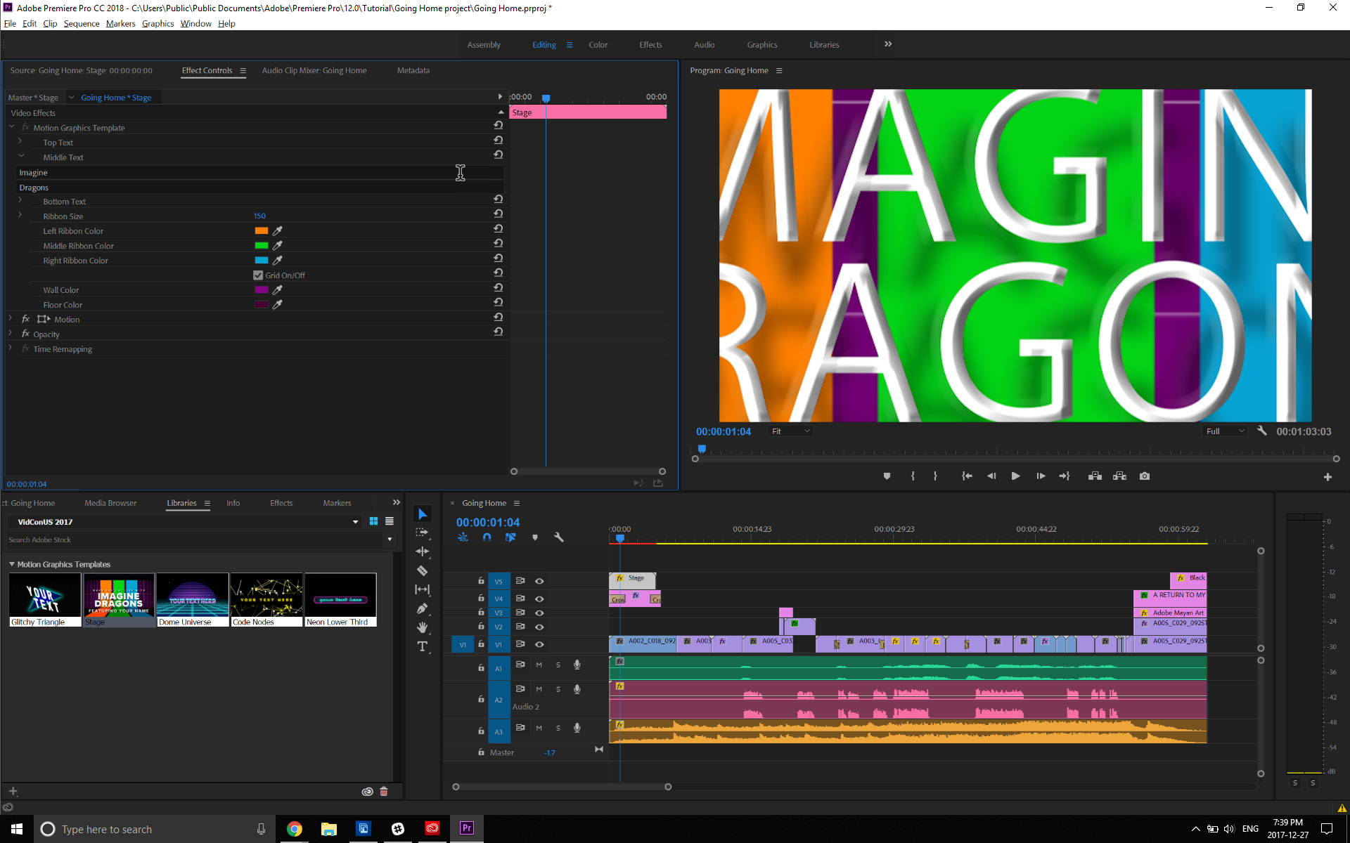 Motion Graphics templates in Adobe Premiere Pro